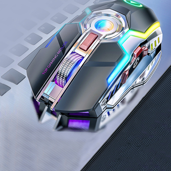 Rechargeable 7 Keys 1600 DPI Backlit  Wireless Gaming Mouse Gaming Mouse 1
