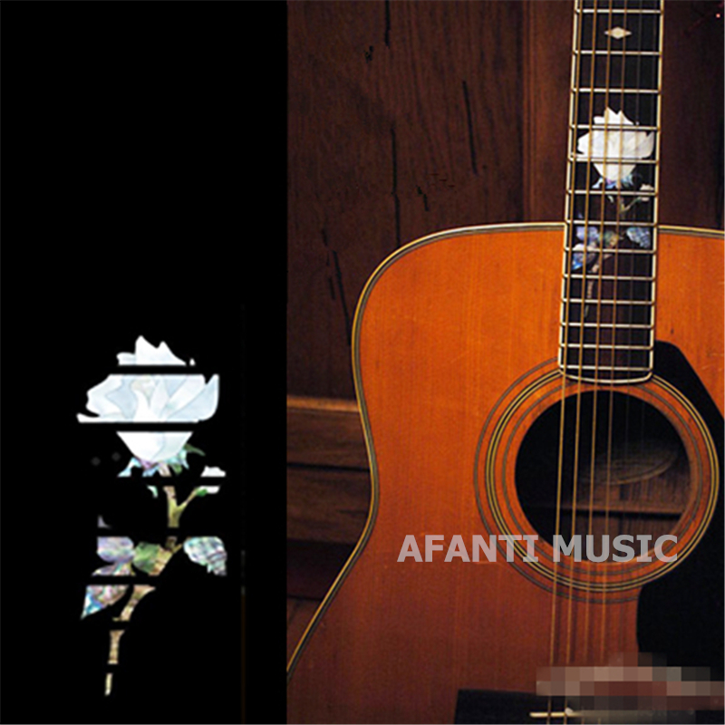 Afanti music Guitar Finger Board sticker / Shell sticker / Rose Inlay (FPD-127) yibuy 2pcs inlay colorful guitar head veneer shell sheet new