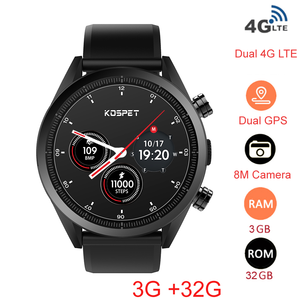MT6739 Kospet Hope 4G Android7.1.1 3GB 32GB 1.39 Business Smart Watch with AMOLED WIFI GPS GLONASS 8.0MP for Men and Women 10