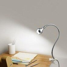 Светильник с зажимом, настольная лампа, USB мощность, прикроватные лампы для спальни, кабинета, Декор, гибкий светодиодный светильник для чтения, рабочий Настольный светильник