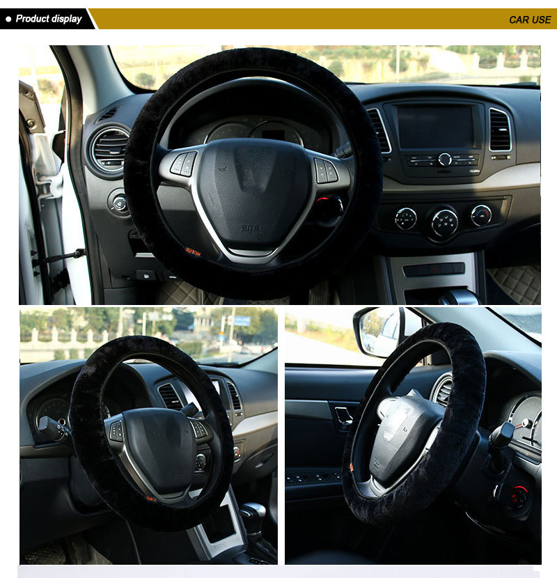 Car Accessories Winter Scirocco Steering Wheel Cover 38cm for Toyota Trd Camry Rav4 Corolla Avensis Aurisrav4 C-hr Prius Yaris