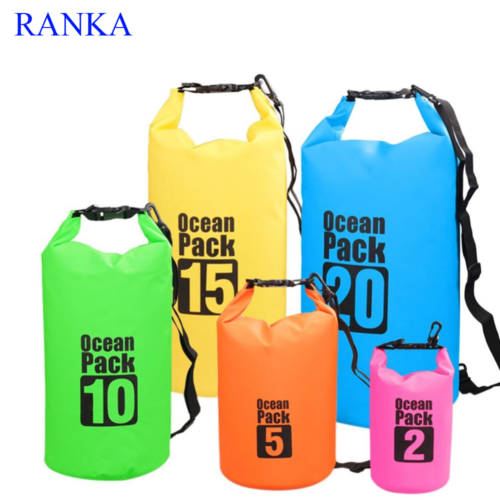 2L 3L 10L Waterproof Dry Bag Water Resistant Swimming Storage Bag Pack Sack Rafting Kayaking Camping Floating Sailing Canoeing