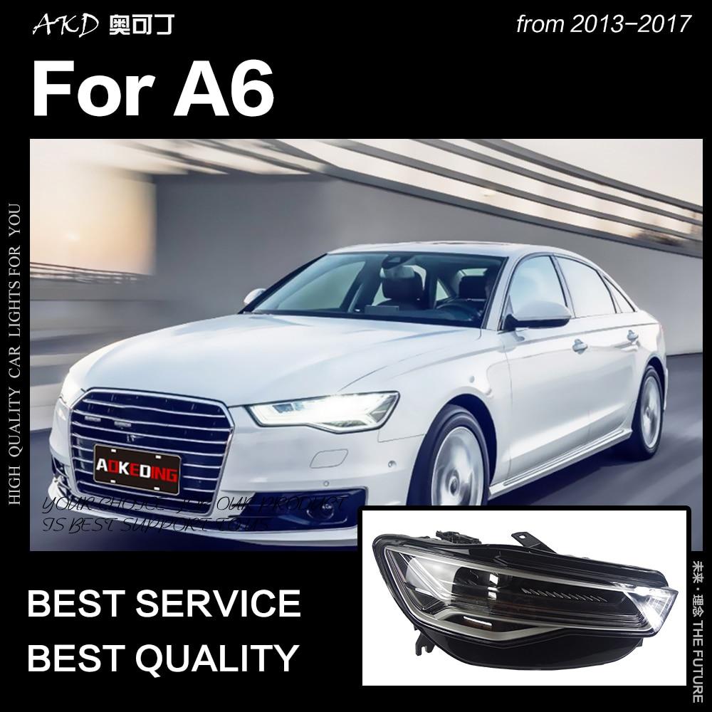 AKD voiture style pour A6 phares 2013-2017 mise à niveau A6L tous les phare LED DRL Hid phare Angel Eye Bi xénon faisceau accessoires - 2