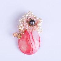 Taiwanese designer natural pearl handmade original brooch corsage pendant broach women rhinestone nightmare before christmas