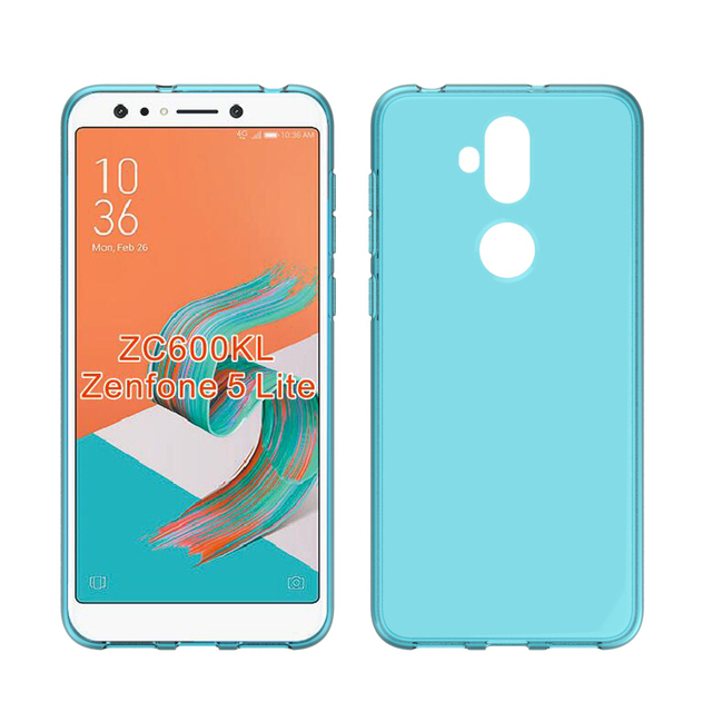 new arrival 5dcb0 3d1d5 CASEISHERE For ASUS Zenfone 5 Lite ZC600KL Case Soft Transparent TPU Gel  Cover Skin for ASUS ZenFone 5Q ZC600KL Phone Cases-in Fitted Cases from ...