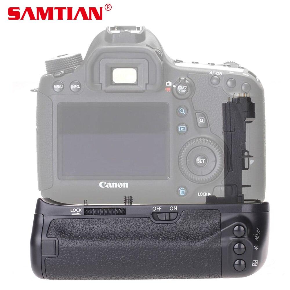 SAMTIAN Batterie Vertical Holder Grip pour Canon EOS 6D DSLR Caméra Travail avec LP-E6 Batterie ou 6 Pièces AA Batteries