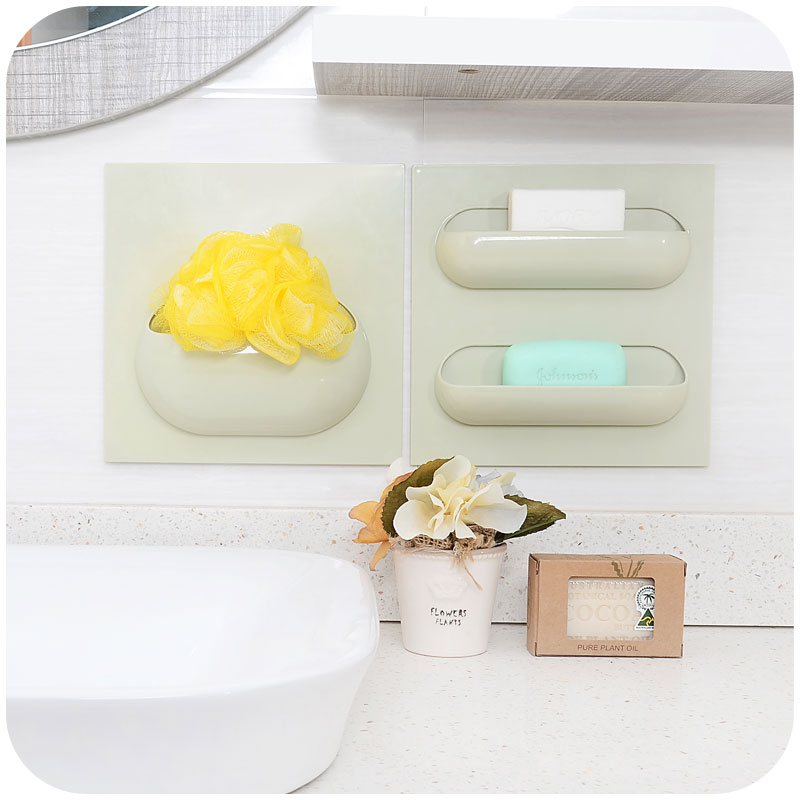 Aliexpress.com : Buy Bathroom Storage Rack Self Adhesive Storage Wall Hanging  Kitchen Organizer Container Holder Shower Home Office Key Soap Dish New  From ...