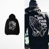 Kanye West Coast Tattoo Print Mens Hoodies And Sweatshirts Autumn Winter Warm Hip Hop High Street Bieber Hoodie Sweatshirt