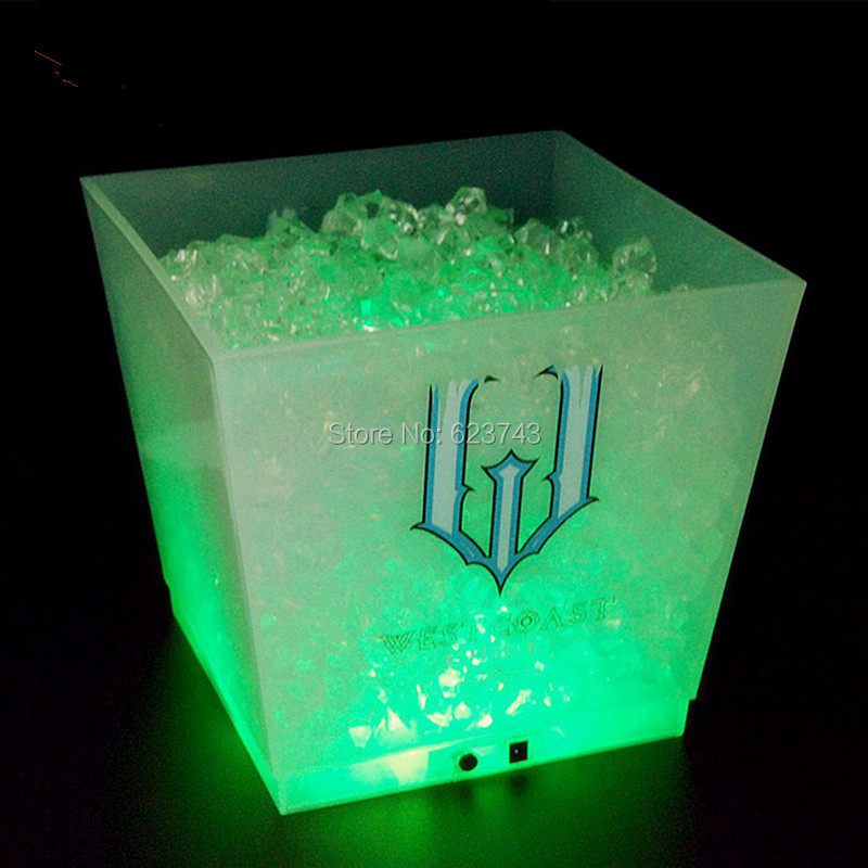 large capacity 12L cube rechargeable led ice bucket 4