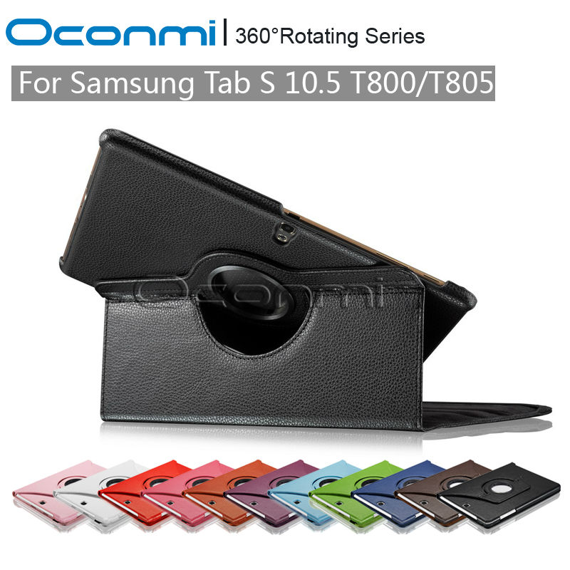 For Samsung Galaxy Tab S 10.5 case with 360 rotating stand function for Samsung SM-T800 SM-T805 cover case protective sleeves original battery cover for samsung galaxy tab s 10 5 t800 t805 back cover battery door housing case replacement free shipping
