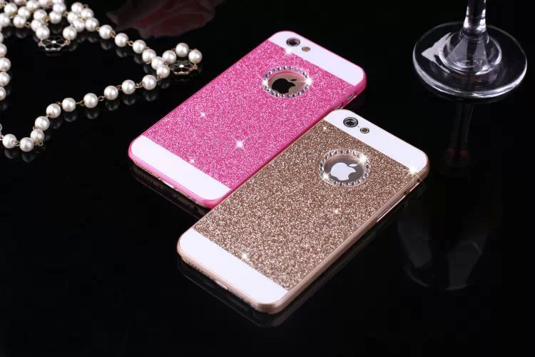 yuetuo luxury case for apple iphone 5 5s se acrylic pink pc coverphone case for iphone 5 5s