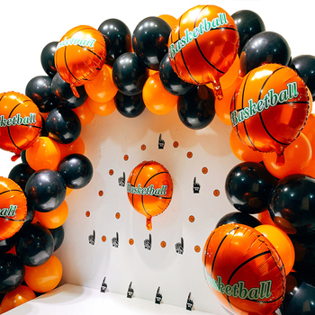 140pcs Party Balloon Arch Latex/Foil Balloons Basketball Party Supplies Kit Birthday Party Decorations Kids/Adult/Boys 1