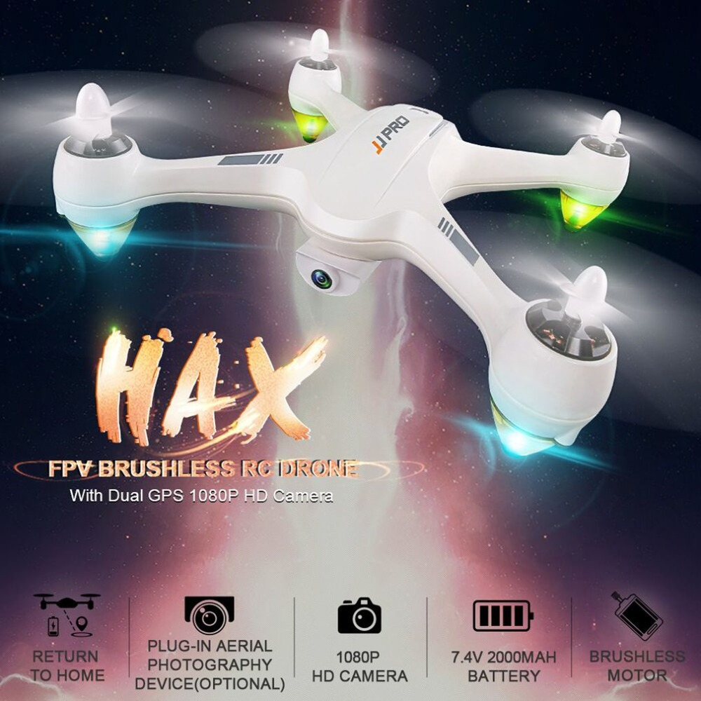 JJPRO X3 HAX 2.4g Double Positionnement GPS 1080 p HD Wifi Caméra FPV Drone Brushless RC Drone Quadcopter Un clé Retour