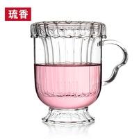 Séleucus haute température résistant tasse fleur tasse de thé bureau tasse doublure