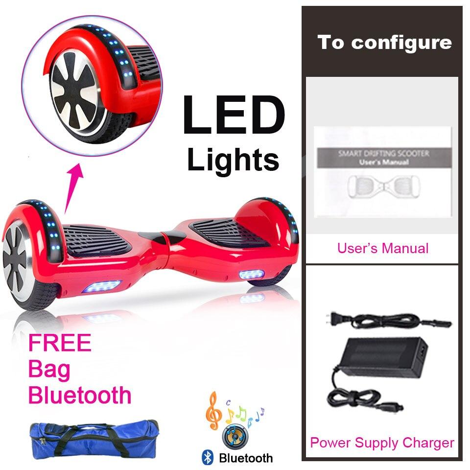 Hoverboard électrique monocycle auto équilibrage Scooter adulte Scooter électrique 6.5 pouces coup de pied Scooter électrique Patines Electricos - 4