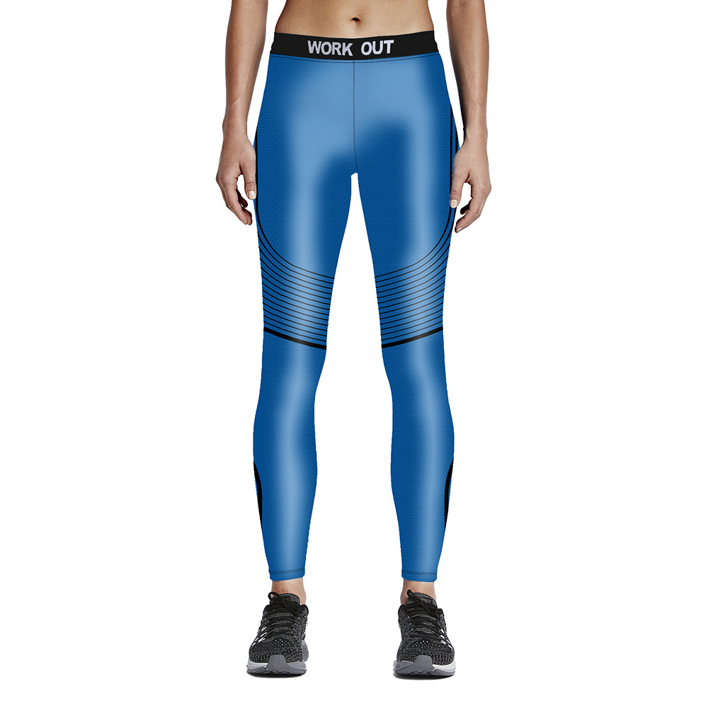 acabcd73e420e Women New Style Print Yoga Pants Elastic Compression Tights Fitness Workout  Gym Running Leggings Sexy Sports Clothing YG046-in Yoga Pants from Sports  ...