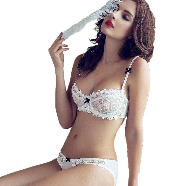 новый горячий прозрачный лифчик комплекты нижнего белья бюстгальтер набор  сексуальный белье женское кружевное комплект комплект нижнего cc2b201a922
