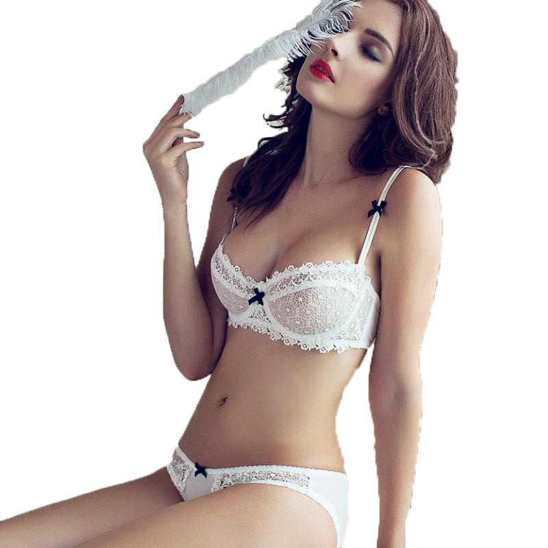 8f468c43cd555 новый горячий прозрачный лифчик комплекты нижнего белья бюстгальтер набор  сексуальный белье женское кружевное комплект комплект нижнего