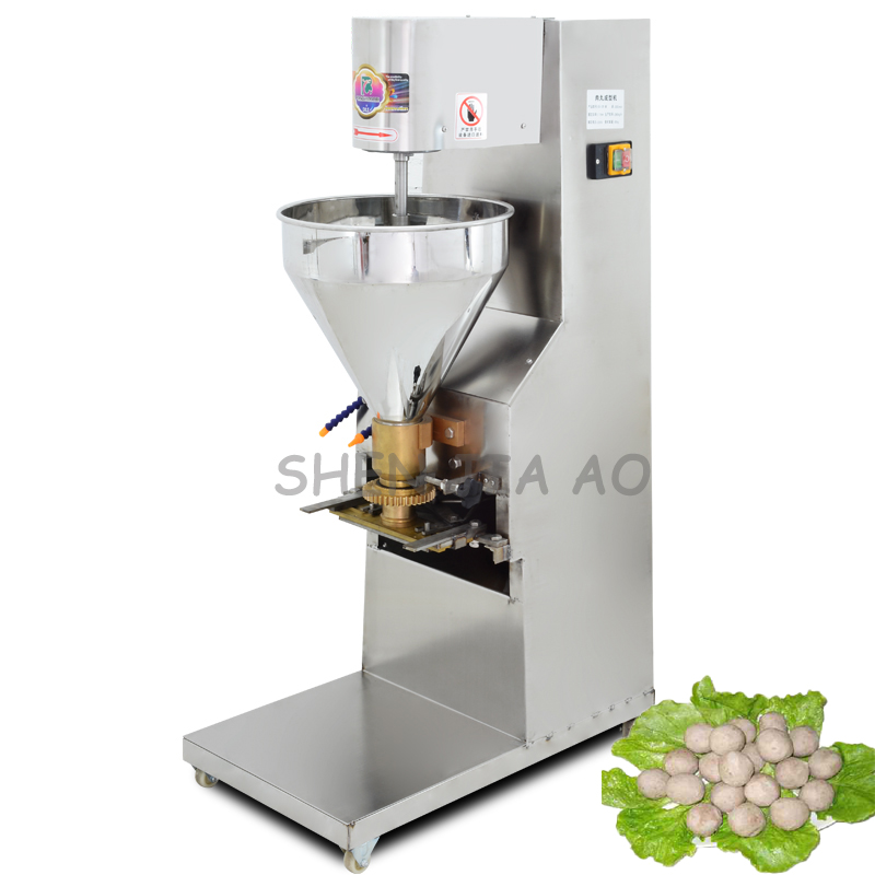 Commercial automatic meatball forming machine vertical stainless steel electric meat ball machine 220V 1.1KW 1PC stainless steel manual cut meat machine