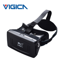 RITECH II Head Mount Plastic Version VR Virtual Reality Glasses magnet Control Google Cardboard for 3D Movies Games 3.5-6 phone