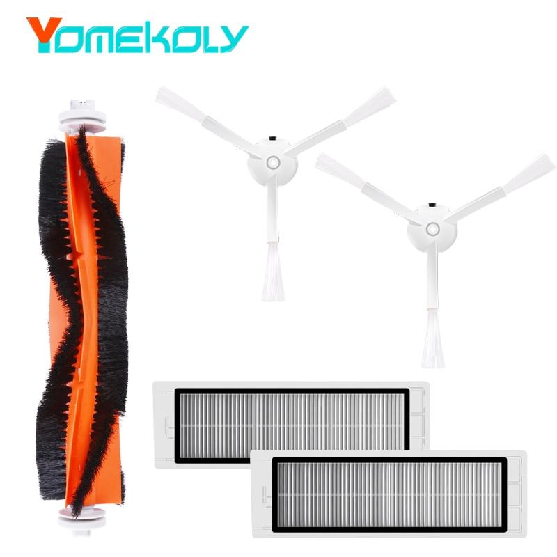 Robot aspirador piezas de repuesto para Xiao mi Roborock reemplazo Kits de limpieza cepillos laterales filtro HEPA cepillo de rodillo