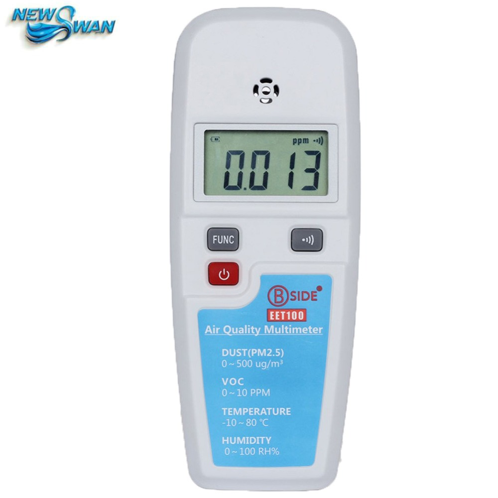 Multifunction Air Quality Multimeter Haze Dust(PM2.5)  Temperature Humidity Atmosphere Environment Detector Gas Analyzer EET100 50pcs high quality dust fog haze oversized breathing valve loop tape anti dust face surgical masks