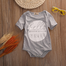Hello Summer Short Sleeve Cotton Rompers