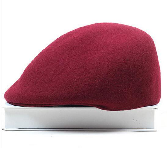 f67bfb75 ... Spring Winter Artist Beret Cap Women Red Black Camel Fashion Plain  Fedora Wool Beret Hat Girls