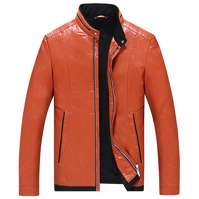 Candy Color Mens Biker Leather Jacket Casual Mens Autos Leather Jackets and Coats Brand Designer Mens Leather Suede Jackets C263
