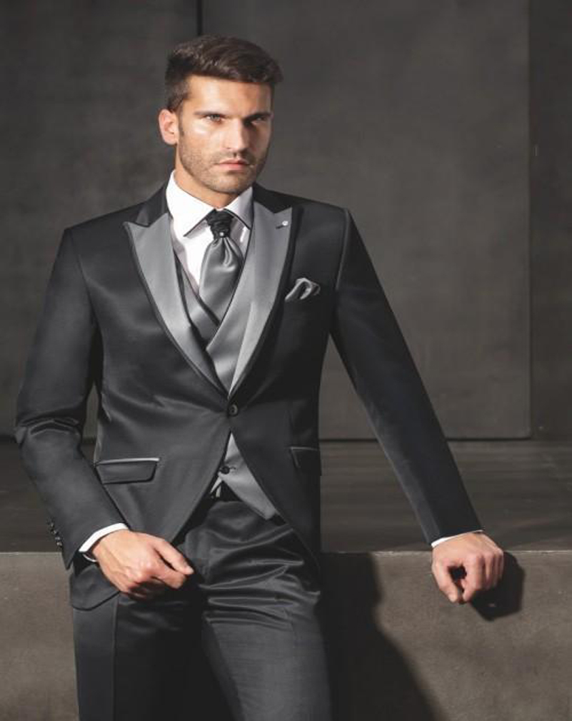 Online Get Cheap Mens Grey Suit with Black Lapel -Aliexpress.com ...