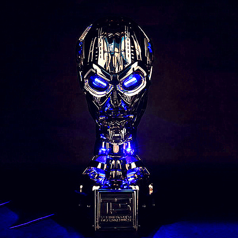 Terminator 1:1 GK T3 TX Skull Endoskeleton Lift-Size Bust With LED Resin Replica Action Figure Collectible Model Toy L1575 gmasking terminator 2 t800 endoskeleton skull head statue scale 1 2 replica