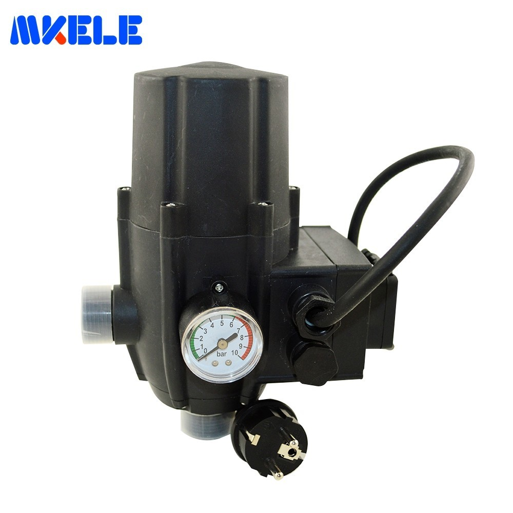 """G1"""" Male Water Pump Pressure Controller Electronic Switch Control Automatic Plug Socket Wires CE Certificate MK WPPS11-in Switches from Lights & Lighting    1"""