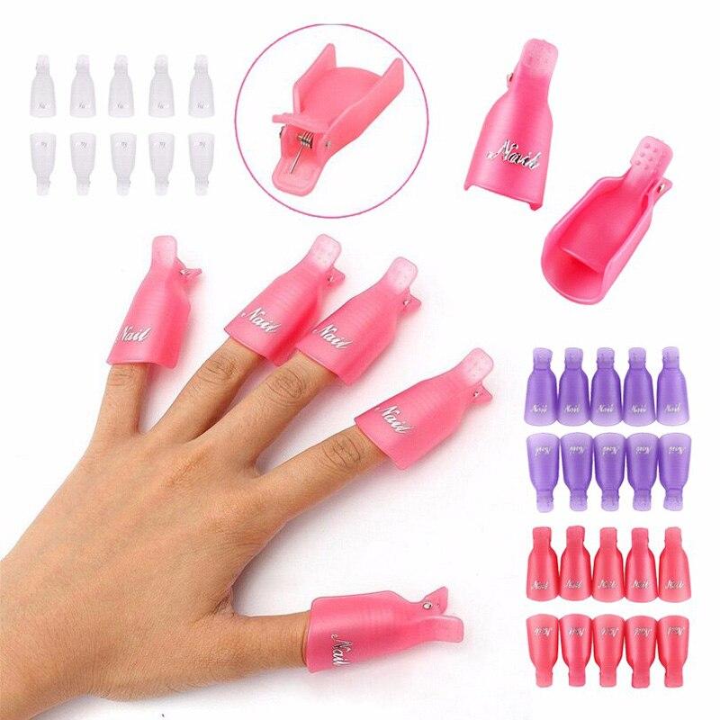 Aliexpress Addfavor 10pcs Nail Art Soak Off Cap Clip Reusable Gel Polish Remover Wrap Uv Cleaner Tools From