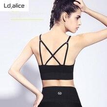 2016 Women Hot Sale Fitness Sports Bra Black Cross Strapless Running Women Bras Sexy Stretch Seamless Popular Ladies Underwear
