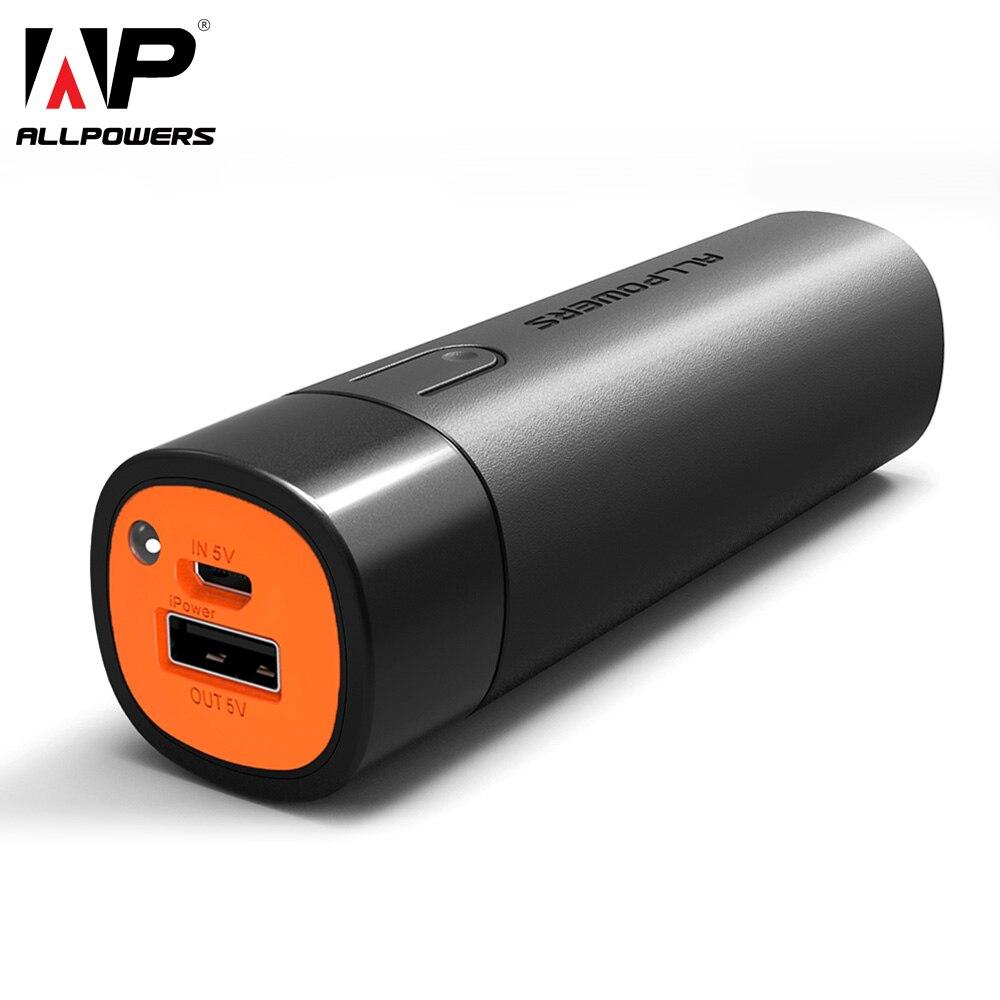 ALLPOWERS 5000mAh Power Bank Portátil Bateria Externa Carregador de Telefone para iPhone Samsung Huawei Xiaomi