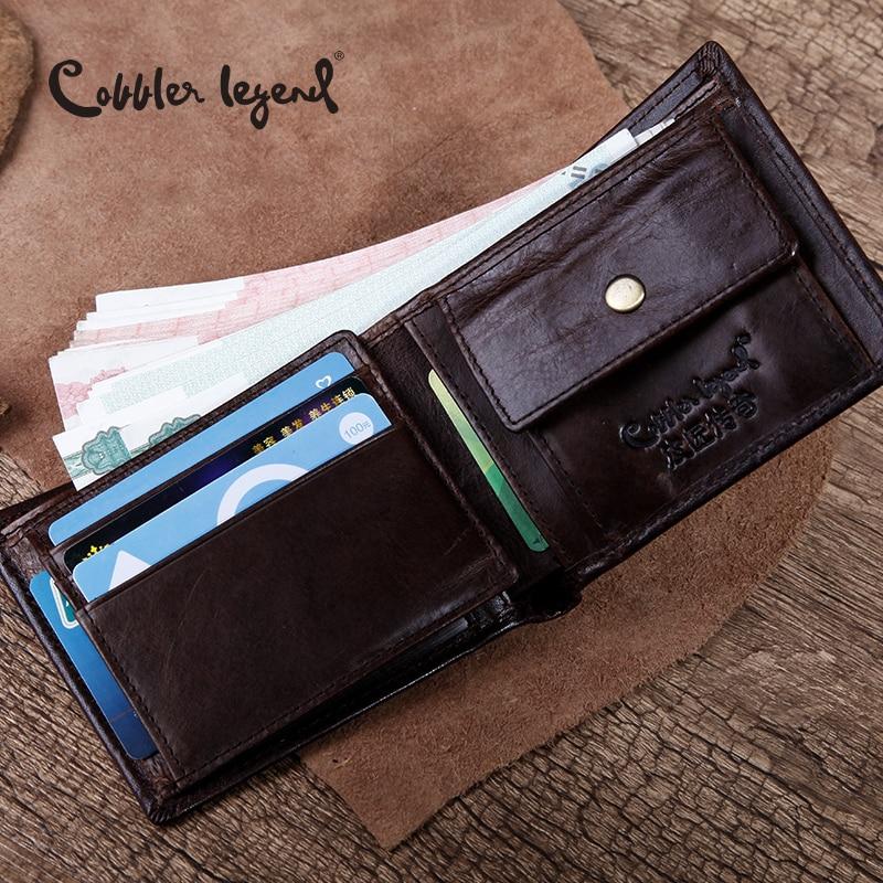 Cobbler Legend Famous Brand Genuine Leather Men Wallets Men's Wallets