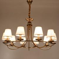 Morden Chandelier LED Vintage Style Pendant lamp Fabric shade ceiling lamp for Living Room Dinning Room Plating E14 Socket