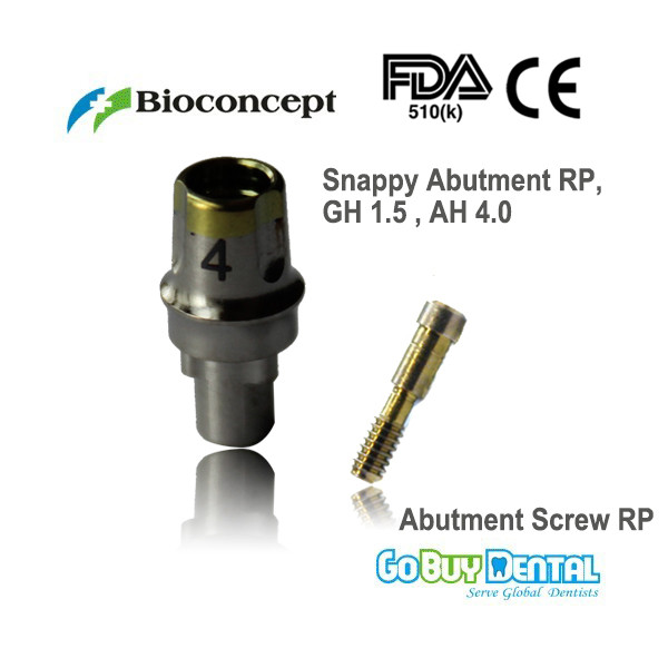 Nobel Compatible  Biocare Replace Snappy Abutment RP GH1.5mm AH4.0mm (435967)Nobel Compatible  Biocare Replace Snappy Abutment RP GH1.5mm AH4.0mm (435967)