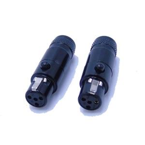 Высокое качество Черный 20 шт./лот мини xlr 4-контактный разъем аудио разъем для микрофона TA4FSH-B TA4MFSH-B мини разъемом XLR с Сталь оболочки 105B