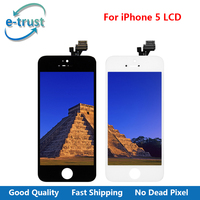 E Trust Full Assembly For Iphone 5 LCD Display Complete Touch Screen Digitizer AAA Black And
