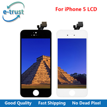 e-trust black and whilt Full Assembly For iphone 5 LCD Display Complete Touch Screen Digitizer AAA  with Free Shipping