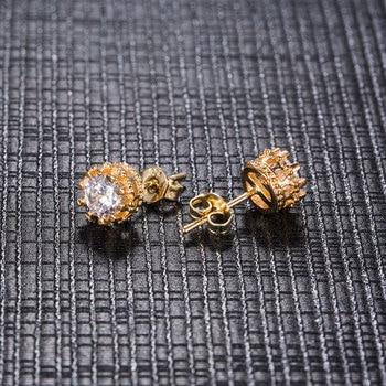 Carat Cubic Zirconia Silver-Color Stud Earrings 1
