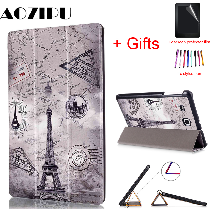Case Tablet Tab-E T565 Galaxy Samsung Protective-Cover T561 PU For Flip Stand Stand