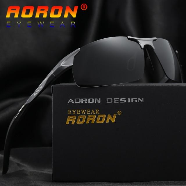 e4c79c557aae Aoron Brand Designer Aluminum Magnesium Polarized Goggles Driving Glasses  Men Sunglasses Accessories Male Eyewear 2018