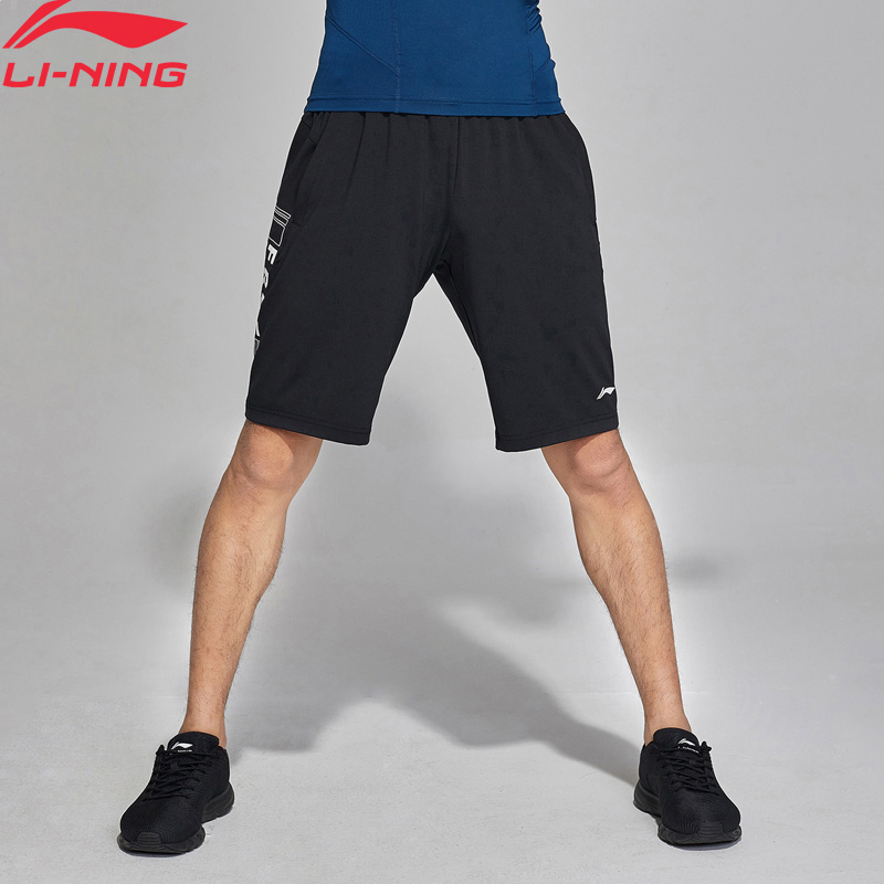 Li-Ning Men Training Shorts Breathable Regular Fit 73% Polyester 27% Spandex LiNing Li Ning Comfort Sport Shorts AKSN173 MKD1545