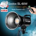 Godox SL-60W SL60W 60 W 5600 +/-300 K CRI 95 + LED Luz de Vídeo com Montagem de Bowens Luz Contínua para DSLR Camera com Controle Remoto controle