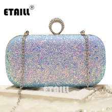 Bags female 2017 chain of packet mini bag fashion messenger diamond dinner party day clutch