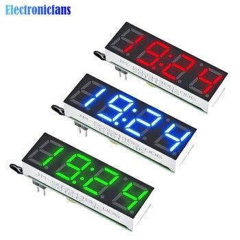 Цифровые часы DS3231SN, 3 в 1, светодиодные, красный, синий, зеленый цвет, модуль измерения температуры, время/термометр/вольтметр, постоянный ток 5-30 в