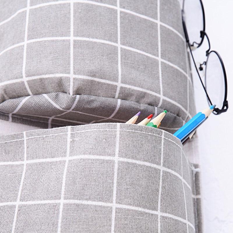 Image 5 - New Organizer Foldable Plaid Hanging Pocket Storage Bag Bonsai Phone Hang Wall Home Dormitory Hanging Organizador 2019 Hot-in Hanging Organizers from Home & Garden