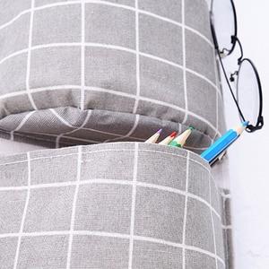 Image 5 - Novo organizador dobrável xadrez pendurado bolso saco de armazenamento bonsai telefone pendurar parede casa dormitório pendurado organizador 2019 quente